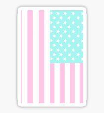 pastel american flag Sticker
