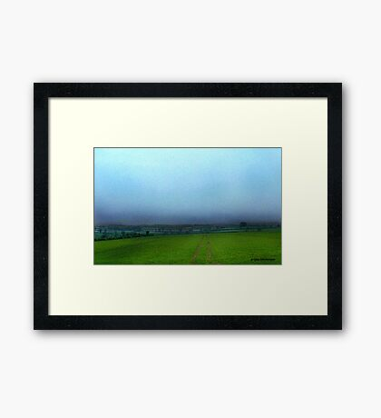 Stormy English Countryside Framed Print