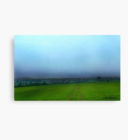 Stormy English Countryside Canvas Print