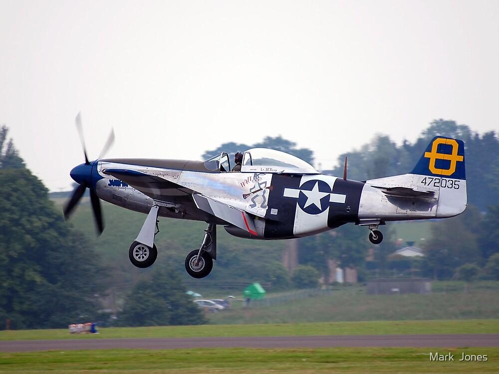 P51D Landing. by Mark  Jones
