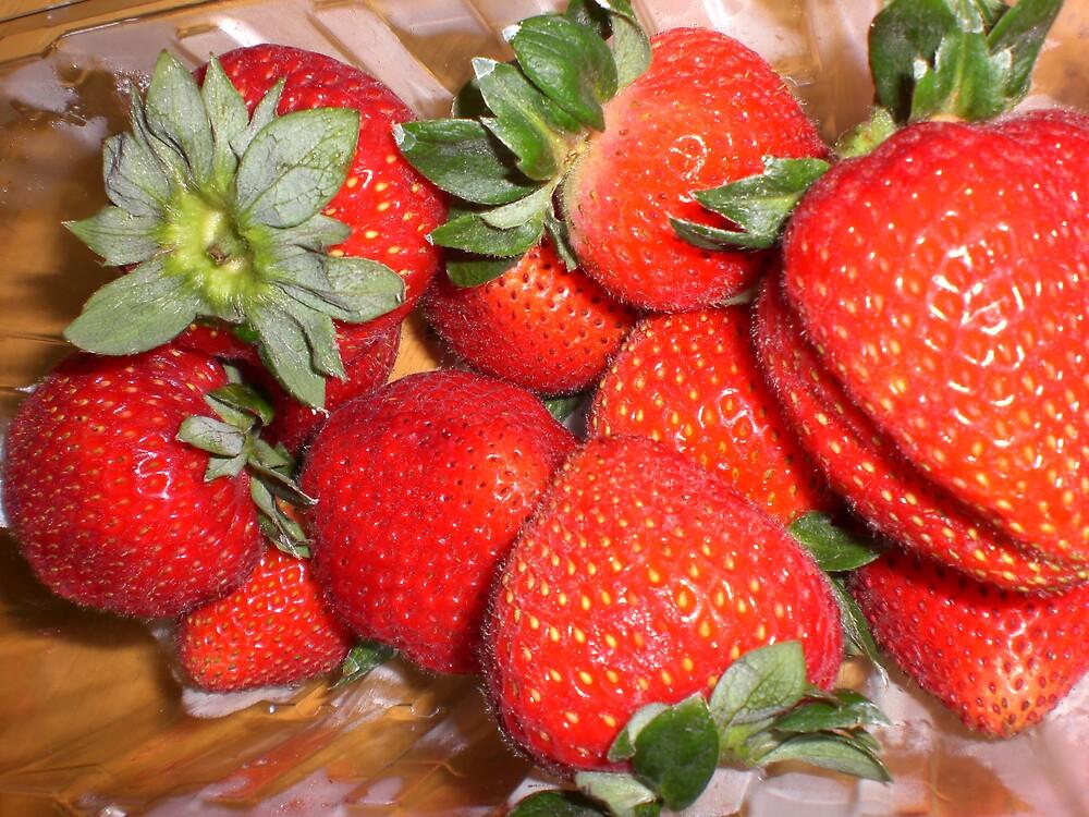 strawberries by Ellaine Walker