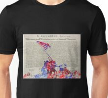 Iwo Jima Delcaration of Freedom Unisex T-Shirt