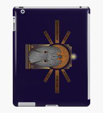Weeping angel with the TARDIS iPad Case/Skin