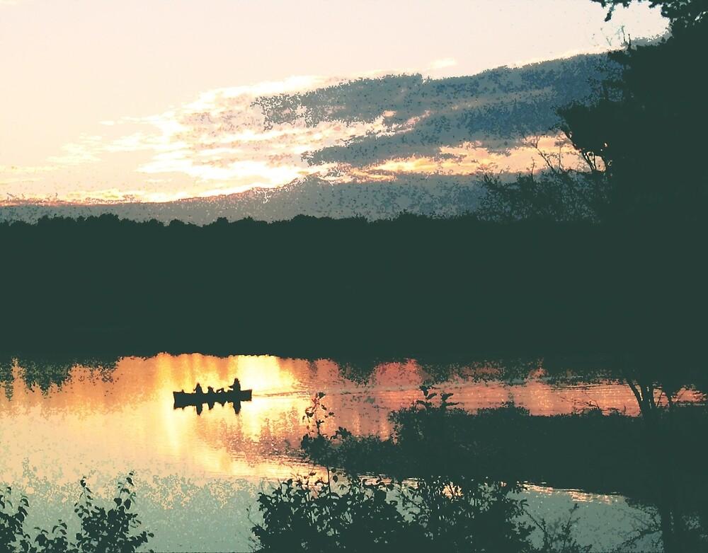 Canoe at Sunset by Kevin Szymanski