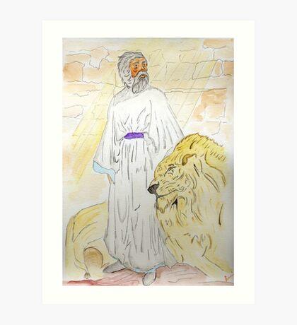 Daniel and the Lions Art Print