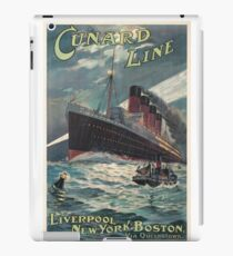 Vintage Travel Poster – The Cunard Line iPad Case/Skin