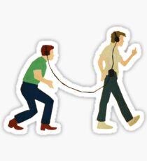 Footloose - Willard and Ren Art Sticker