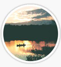 Canoe at Sunset Sticker