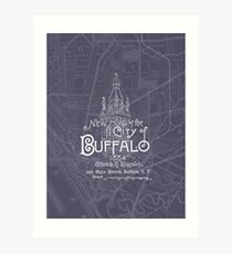Map of Buffalo, New York - 1884 Art Print