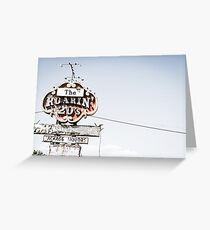 Historic Roaring 20's sign Greeting Card