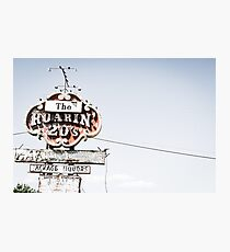 Historic Roaring 20's sign Photographic Print