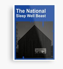 Lámina metálica The National - Sleep Well Beast