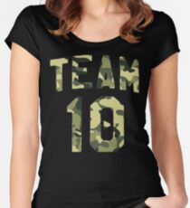 Camo Jake Paul Team 10 Women's Fitted Scoop T-Shirt