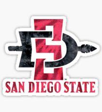 San Diego State University Tie Dye Design Sticker