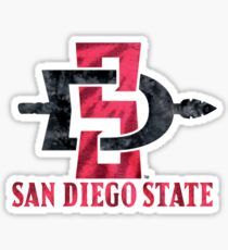 San Diego State University Tie Dye Design Sticker
