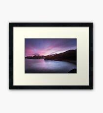 Caswell Bay at dusk Framed Print