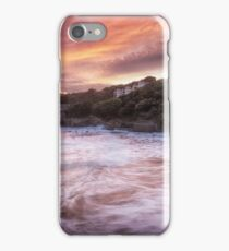 Caswell Bay sunset iPhone Case/Skin