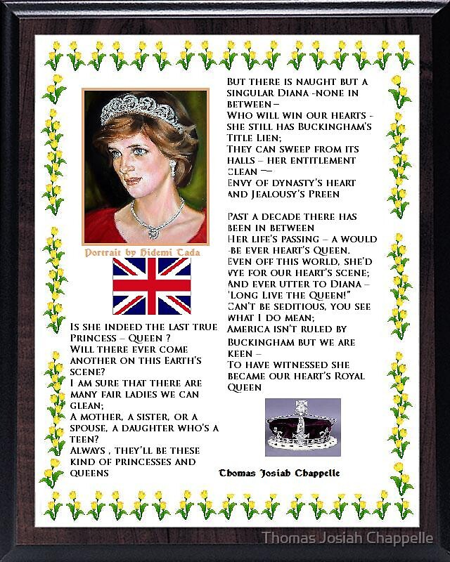 Heart's Royal Queen - Lady Diana by Thomas Josiah Chappelle