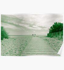 Vintage beach scene. Poster