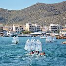 The Race Home,Port De Pollensa. by Jim Wilson