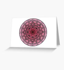 Pink Ombré Mandala Greeting Card