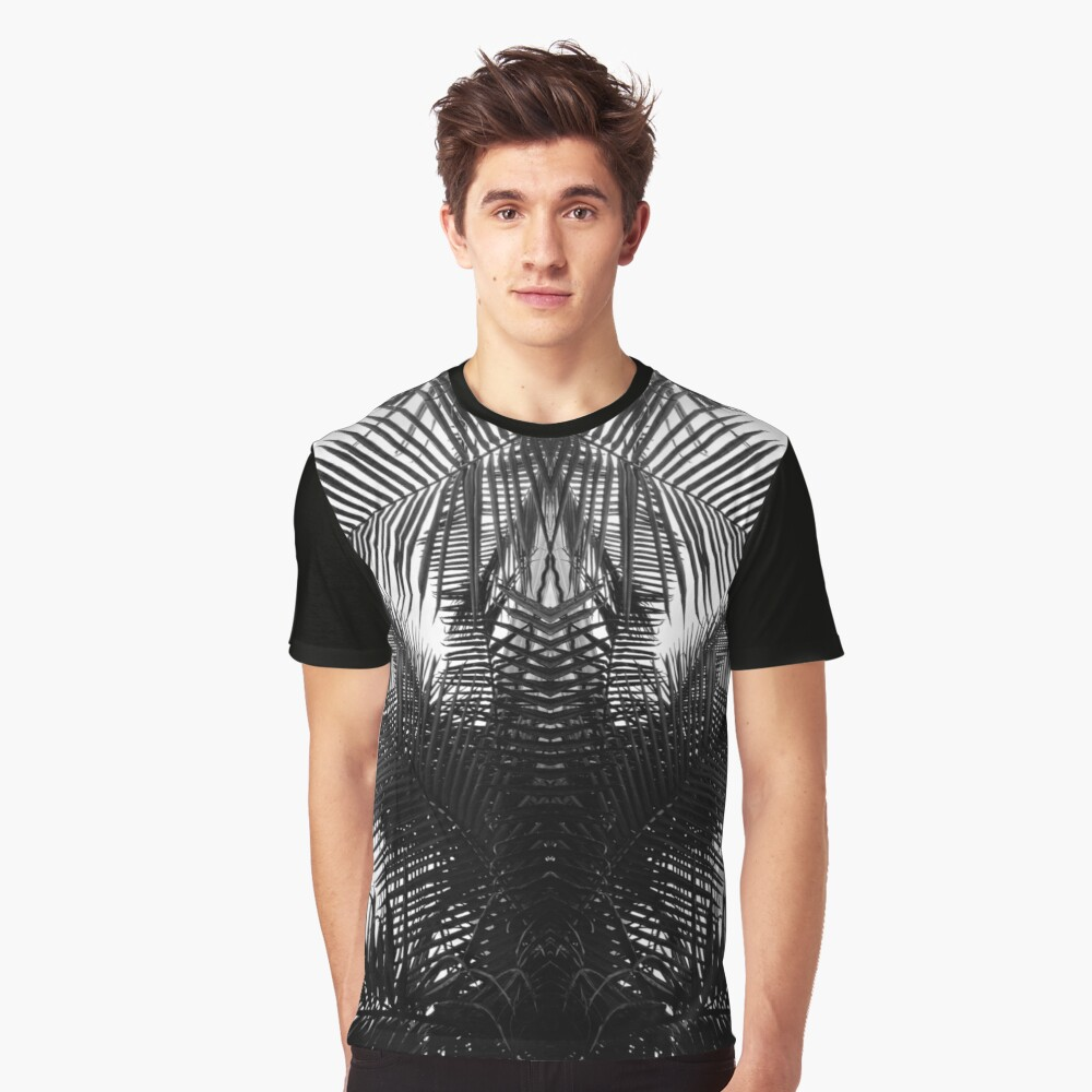 Black and white fern Graphic T-Shirt