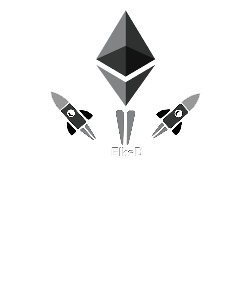 Ethereum To The Moon Crypto Currency Shirt Hodl your Ether by ElkeD