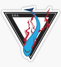 save our sharks triangle Sticker