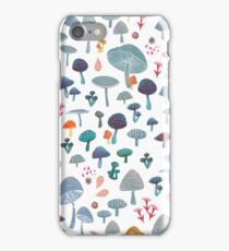 scattered mushroom pattern iPhone Case/Skin