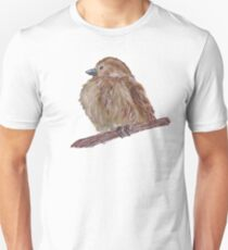 Hand drawn watercolor sparrow T-Shirt