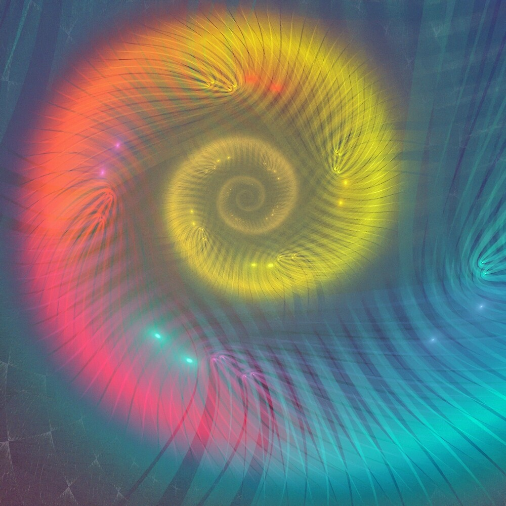 Colorful ammonite spiral by ivanoel