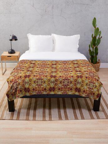 Zen I Am Sacral Flow  Throw Blanket