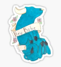 babe the blue ox Sticker