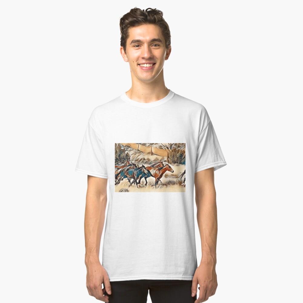 Horses 3 . Classic T-Shirt Front