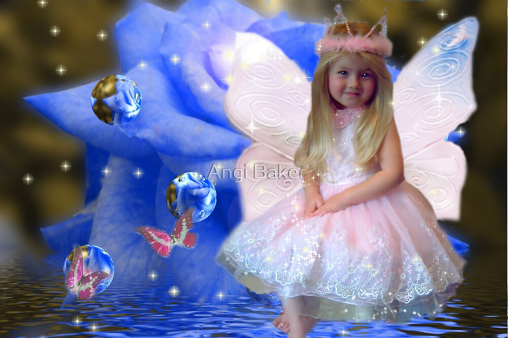 Blue Rose Fairy by Angi Baker