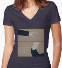 Keep Your Eyes Fixed On Me Women's Fitted V-Neck T-Shirt