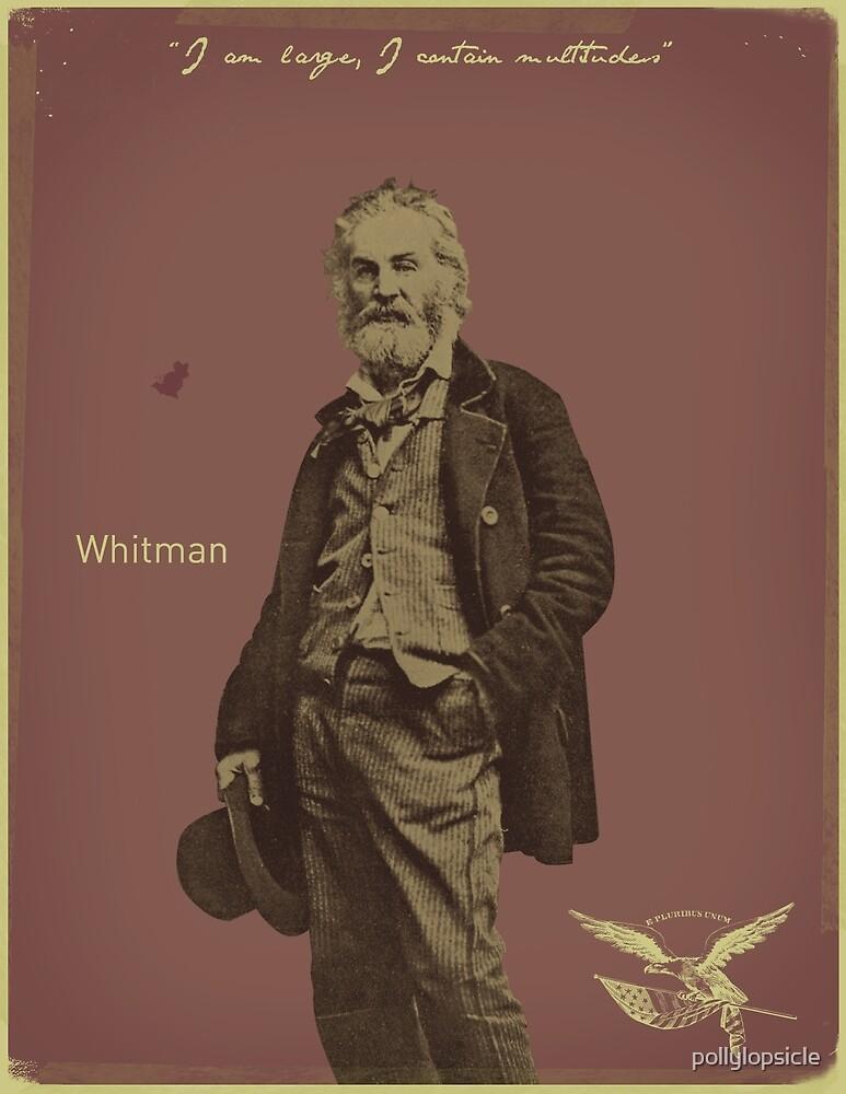 Walt Whitman by pollylopsicle