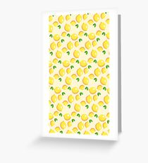Lemon Pattern Greeting Card