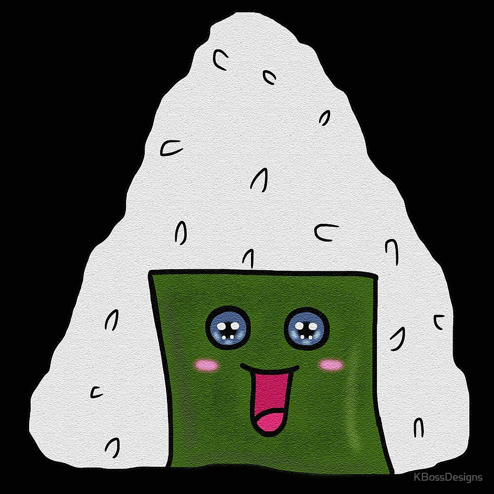 Happy Onigiri by KBossDesigns