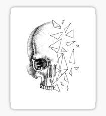 Abstract Skull Sticker