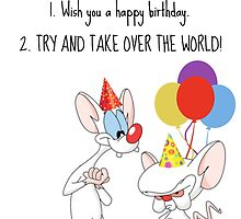Pinky And The Brain Christmas Wish.Pinky And The Brain Greeting Cards Redbubble