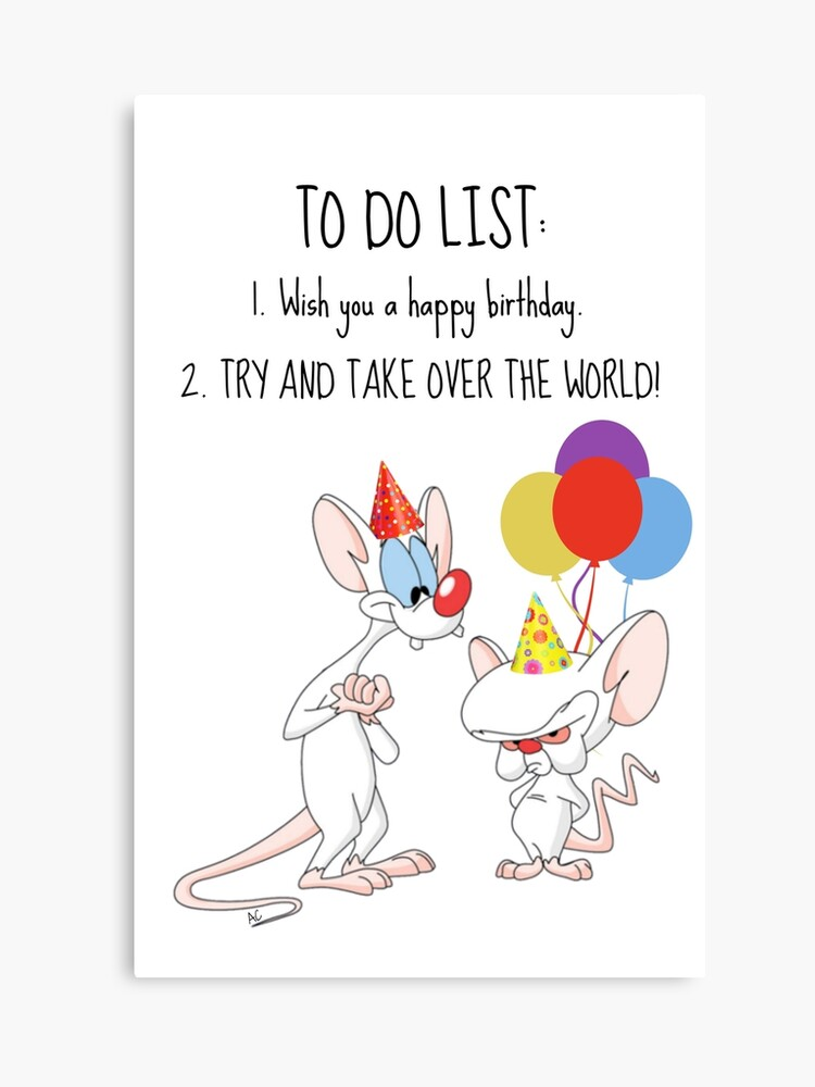 Pinky And The Brain Christmas Wish.Pinky And The Brain Birthday Card Canvas Print