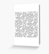 Floral pattern outline Greeting Card