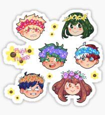 bnha x flower crowns !! Sticker