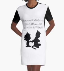 Hobbes Friendly Quotes Graphic T-Shirt Dress