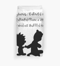 Hobbes Friendly Quotes Duvet Cover