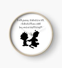 Hobbes Friendly Quotes Clock