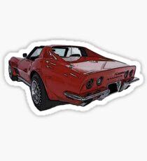 Classic Corvette Sticker Sticker