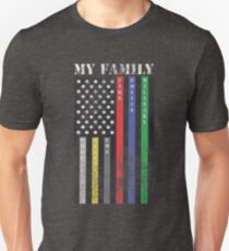 My Family, Support Services Flag T-Shirt