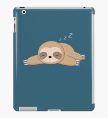Nette Kawaii faule Faultier iPad-Hülle & Klebefolie